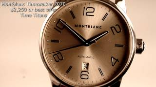 Montblanc Timewalker 7070 Automatic 42MM Sapphire Silver Dial Pix