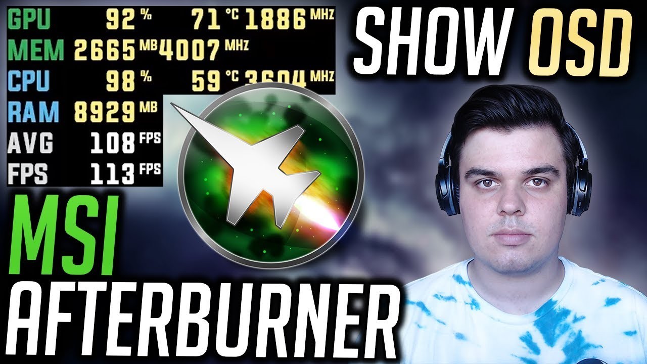 MSI Afterburner - How to show OSD - Show FPS and AVG FPS (Tutorial)