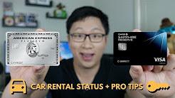 Car Rental Status (CSR + Amex Plat) + Tricks to Save Money