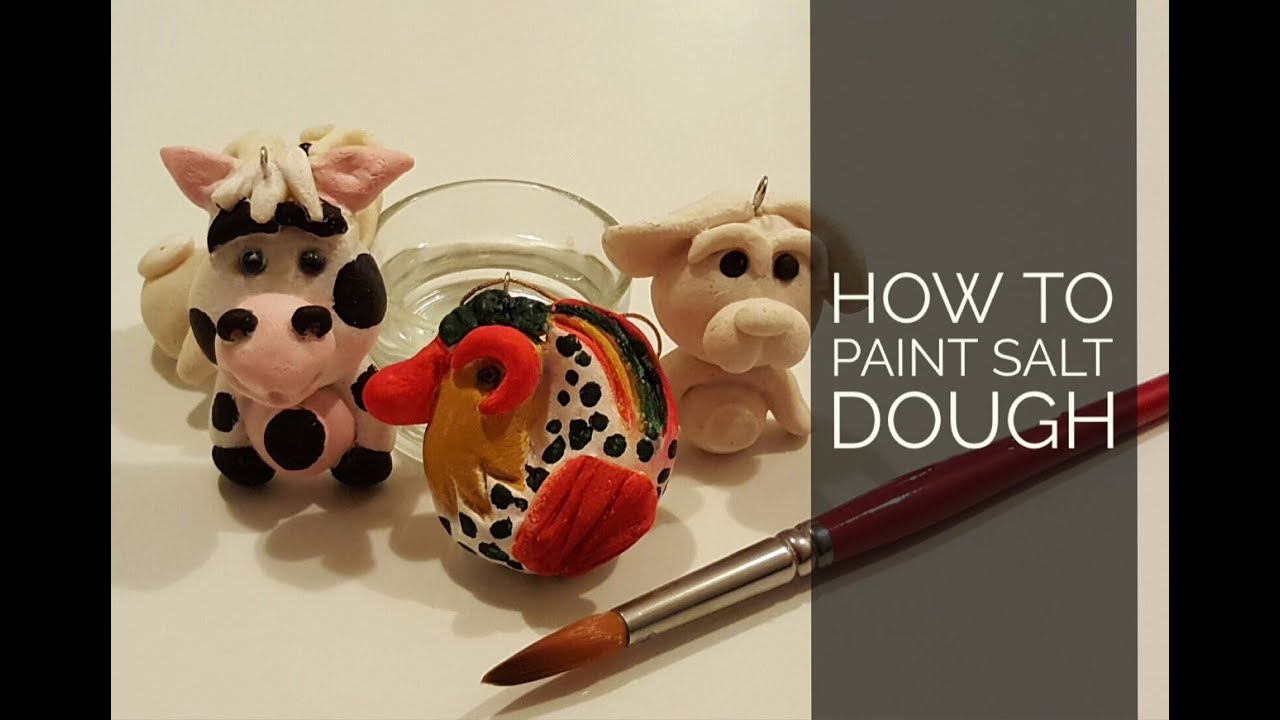 how to paint salt dough youtube. Black Bedroom Furniture Sets. Home Design Ideas