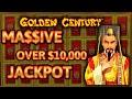 HIGH LIMIT Dragon Link Golden Century MASSIVE HANDPAY JACKPOT $10K+ ~ $100 Bonus Round Slot Machine