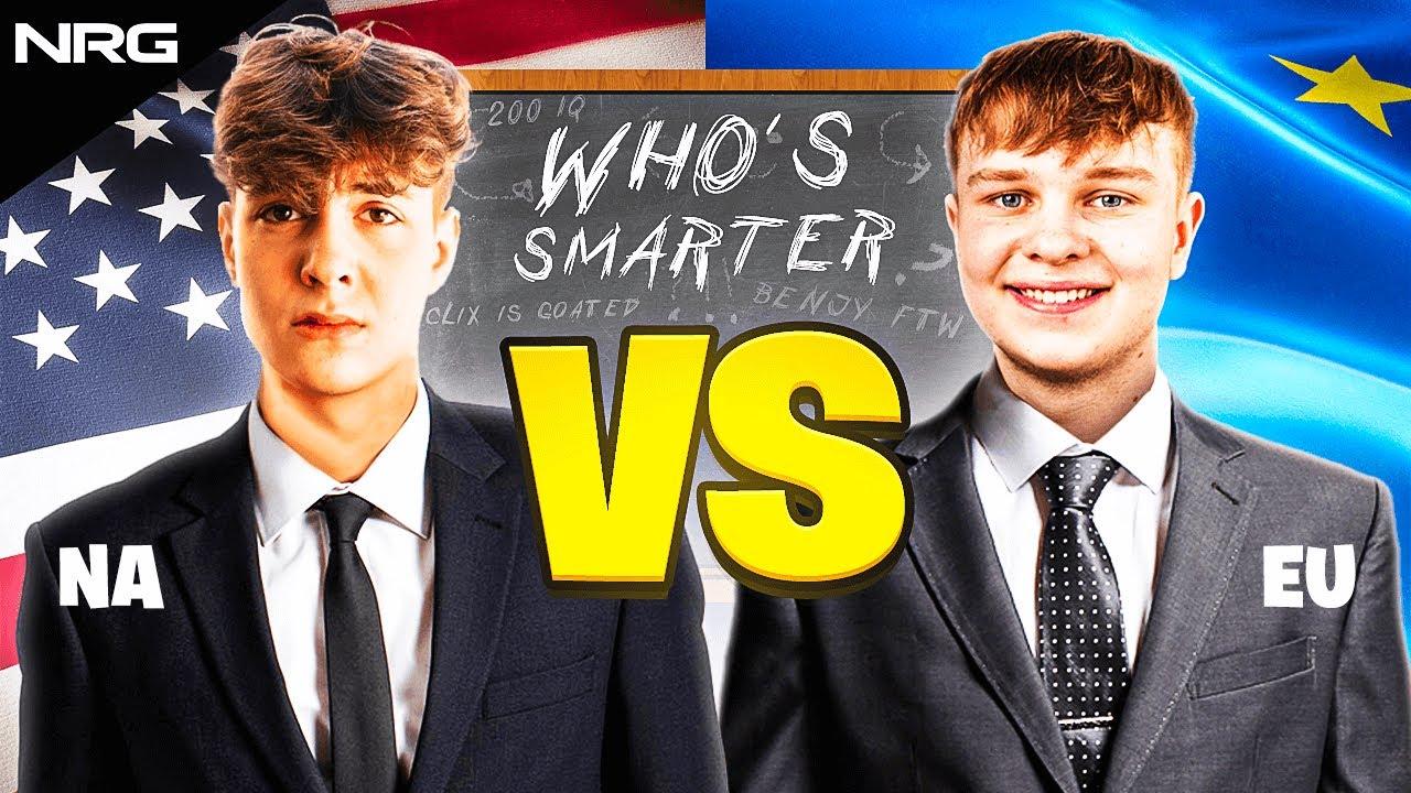 Who's the smartest? (Clix vs Benjy IQ Challenge)