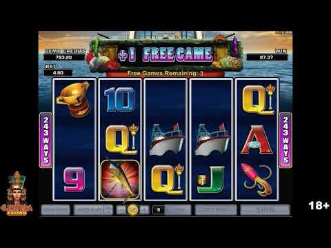 Wild Catch Slot Machine Free Spins Bonus - Microgaming Slots