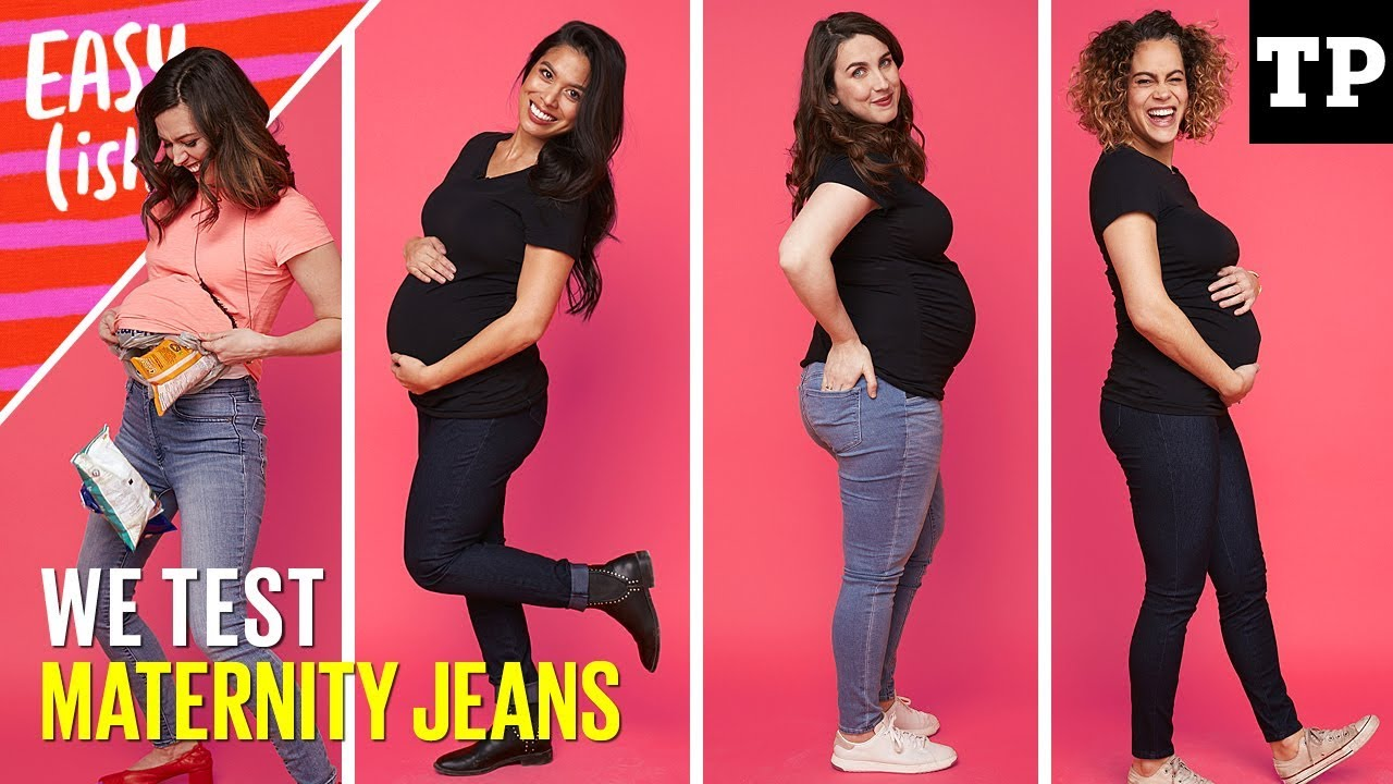 footwear 2019 professional 100% high quality Best maternity jeans haul (we test Gap, H&M, Old Navy + more!) | Easy(ish)  S01E10