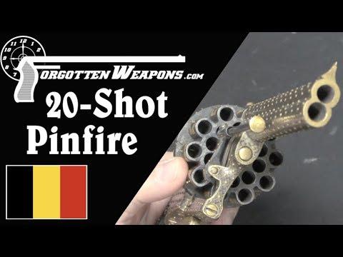 Extra-Fancy 20-Shot Pinfire Revolver