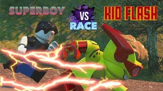 LEGO DC Villains: Kid Flash vs Superboy Race!! (Young Justice)