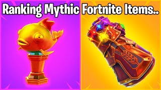 RANKING ALL MYTHIC FORTNITE WEAPONS FROM WORST TO BEST!