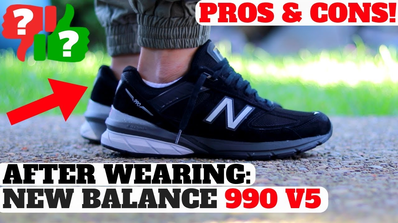 09541f3e7967 After Wearing  NEW BALANCE 990 V5 Pros   Cons Review! - YouTube