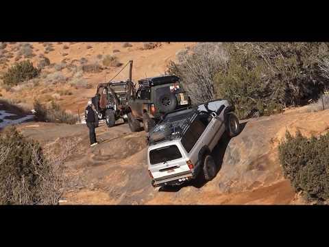 HELLS REVENGE land Cruisers on  Hells Gate Moab, Utah 2018