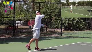 Теннис - Удар справа ( как правильно бить форхенд )