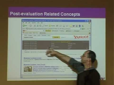 Dr. Ronny Lempel - Yahoo Israel - How Search Engines Help Users