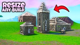 How to *Resize* any builds! (Stretched Builds!) Fortnite Glitch