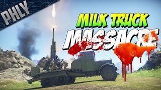 MILK TRUCK MASSACRE - 29-K Tank Destroyer (War Thunder Tanks)