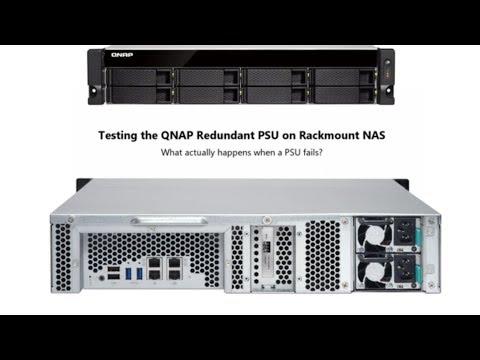 Testing the QNAP Redundant PSU on Rackmount NAS