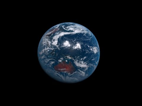 One Year of Earth From Space - Himawari Geostationary Timelapse