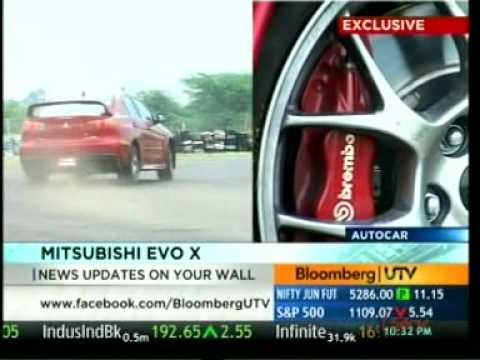 MITSUBISHI EVO X - BLOOMBERG UTV - AUTOCAR SHOW.MPG