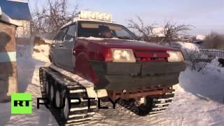 Житель Омска собрал «танк» на основе Lada Samara