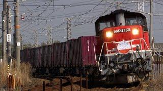 DD51牽引 JR関西本線 貨物列車 さよならHM掲出 (2021.3.11)