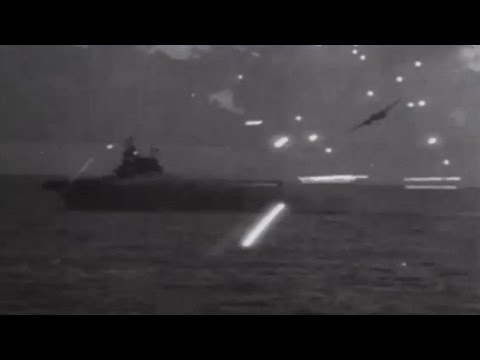 Japanese Air Attack on US Navy Aircraft Carrier Task Force Off Saipan Combat Action Footage WW2