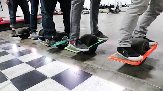 Professional One Wheel Hoverboard Race