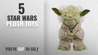 "Top 10 Star Wars Plush Toys [2018]: Star Wars Plush - Stuffed Talking 9"" Yoda Character Plush Toy"
