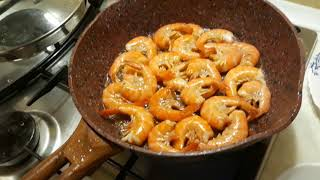 Королевские креветки в кисло сладком соусе