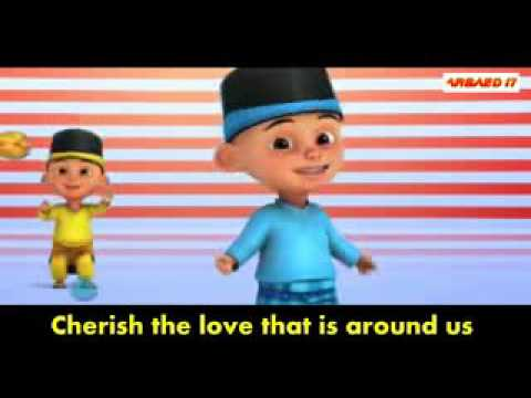Harris j   Salam alaikum Upin Ipin Version with lyrics