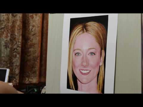 Painting of Judy Greer (work in process 32)