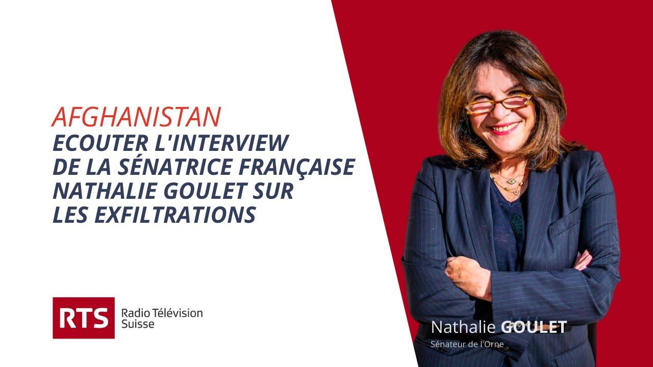 Afghanistan, interview de Nathalie Goulet sur RTS (Suisse)