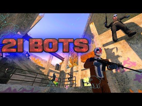 PAYDAY 2 - 21 Bots (Big Lobby Mod) #1