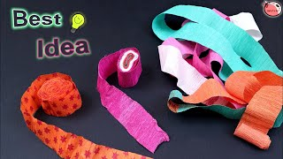 Best Out of Waste Party decoration Crepe Paper || How to Make Wall Hanging at Home || DIY Craft Idea