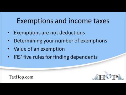 Exemptions and income taxes