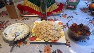 Ramadan Iftar (Rice, Beef and Vegetable Sauce)