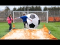 GIANT FOOTBALL SLIP 'N' SLIDE vs MY MUM