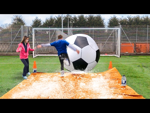 Thumbnail: GIANT FOOTBALL SLIP 'N' SLIDE vs MY MUM