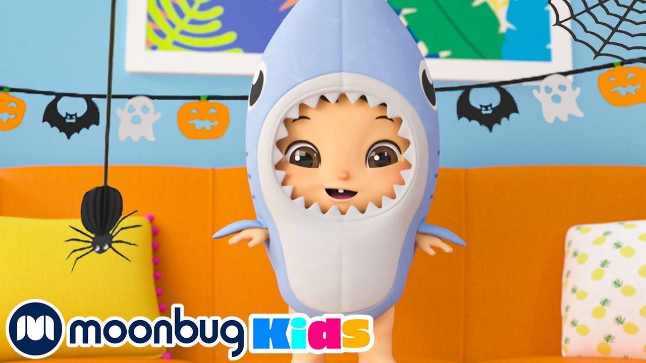 Halloween Baby Shark @Lellobee City Farm - Cartoons & Kids Songs  Sing Along With Me!   Moonbug Kids