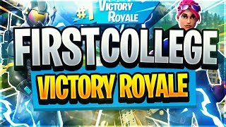 Getting my First VICTORY ROYALE in COLLEGE * Fortnite Mobile Gameplay