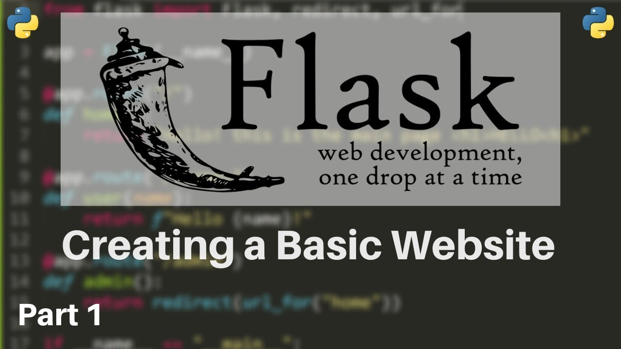 How to Make Websites with Python - Flask Tutorial