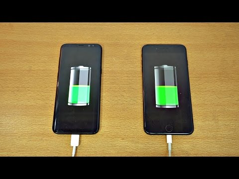 Samsung Galaxy S8 Plus vs iPhone 7 Plus - Battery Charging Speed Test! (4K)