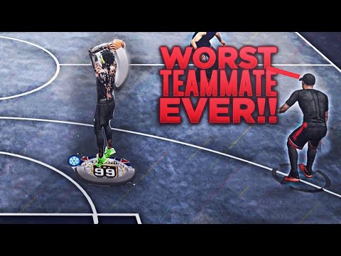 TRYHARDS GET ANGRY PLAYING WITH THE WORST 99 OVERALL ON 2K19