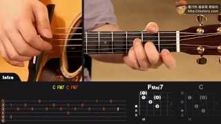 Glen Hansard - Falling Slowly (Once OST) 1 원곡 속도 하갱쌤 기타 코드 연주 강좌 통기타 코드 쉬운 팝송