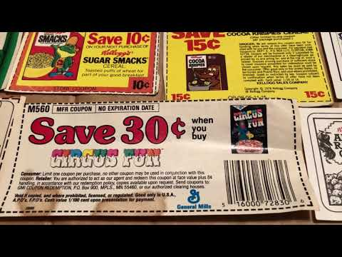 Cereal Coupons 1980-1989 General Mills Kellogg's Post Ralston 1980s 80s Then 80s Now