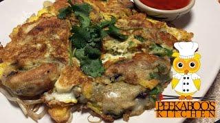 Hoi Tod - Thai Mussel Pancake - หอยทอด - Peekaboo's Kitchen Episode #5