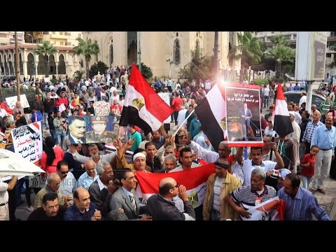 EGYPT || Pro Elsisi crowds in Alexandria denounce protests against deepening austerity