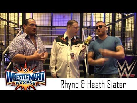 Heath Slater and Rhyno Interview   WWE Wrestlemania 33 Axxess
