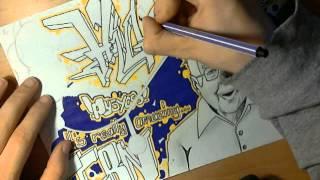 lets draw graffiti - higgs boson cern (part 4/5) #007
