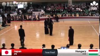 Highlights-SEMI FINAL(JPN-HUN) - 16th World Kendo Championships -  Men's Team_Final Tounament 遊佐克美 検索動画 12