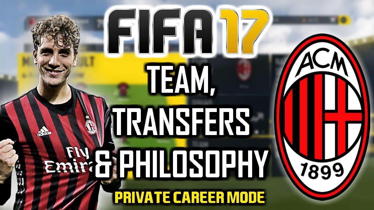Fifa 17 private career mode team transfers ac milan for Fifa 17 milan