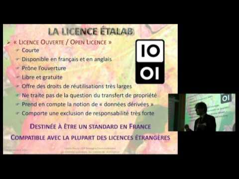 Données publiques : Les licences de réutilisation - Cédric Favre