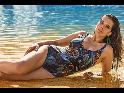 Amarea  18166 Слитный купальник для полных девушек